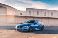 Clean Estoril Blue BMW 335i With Custom Wheels