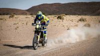 Sherco TVS Rally Factory Team's Abdul Wahid Takes P1 in Stage 3 of Merzouga Rally